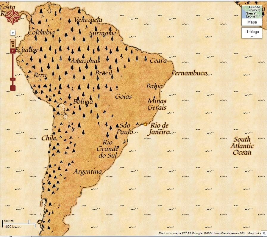 """O mapa-mundi agora pode virar um enorme mini-game na forma de um """"mapa de caça ao tesouro"""" (Foto: Reprodução/ Google Maps)"""