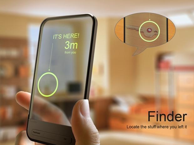 Finder, gadget conceitual que encontra objetos perdidos (Foto: Reprodução)