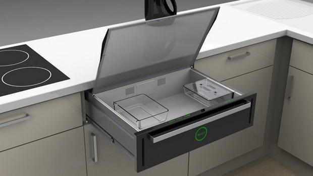 Innoware, um micro-ondas que fica dentro da gaveta (Foto: Divulgação)