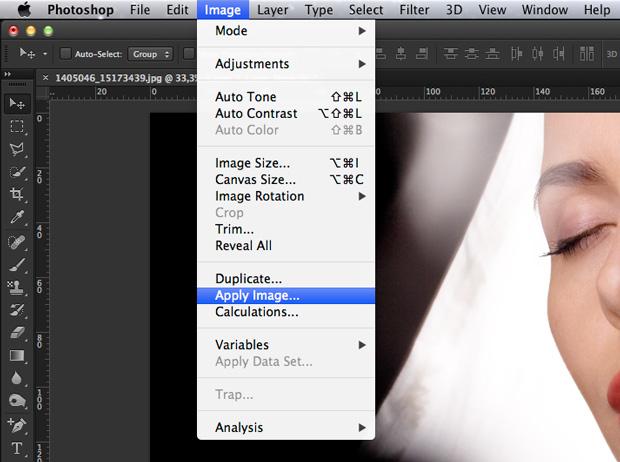 Aplique o recurso Apply Image. (Foto: Reprodução/André Sugai)