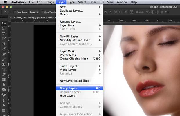 Agrupe a layer dentro de um folder. (Foto: Reprodução/André Sugai)