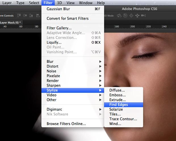 Aplique o filtro Find Edges. (Foto: Reprodução/André Sugai)