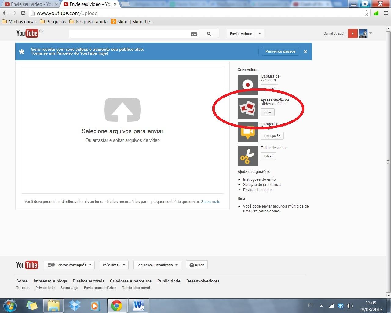 Como fazer um slide de fotos no youtube 49