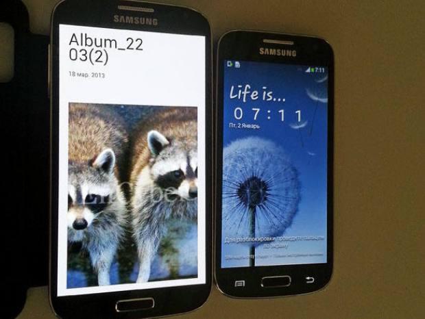 Galaxy S4 e suposto Galaxy S4 Mini (Foto: Reprodução/SamMobile)  (Foto: Galaxy S4 e suposto Galaxy S4 Mini (Foto: Reprodução/SamMobile) )