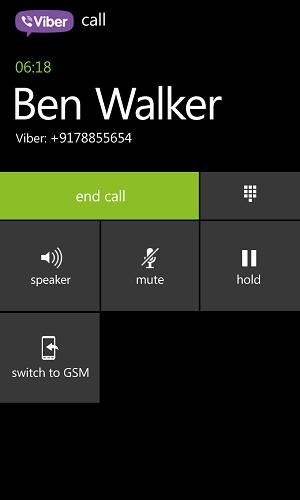Viber está de cara nova para Windows Phone 8 (Foto: Divulgação)