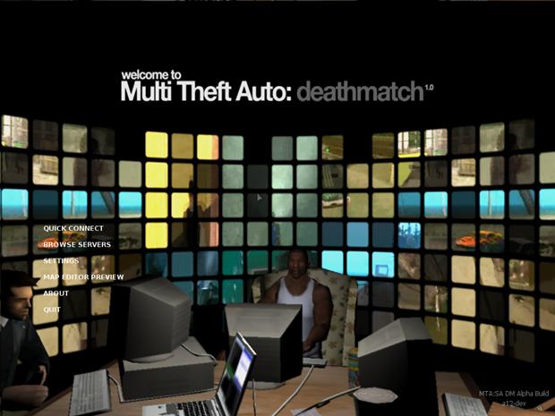 No menu de Multi Theft Auto clique em BROWSER SERVERS para jogar Online (Foto: Divulgação)