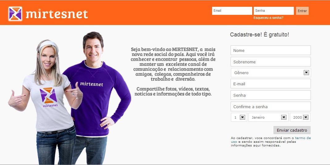 Página inicial do Mirtesnet (Foto: Reprodução/Mirtesnet)