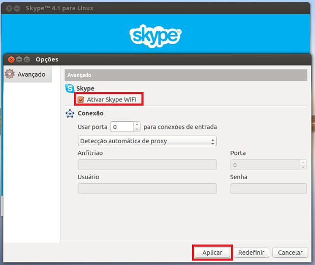 Ativando o Skype WiFi (Foto: Reprodução/Edivaldo Brito)