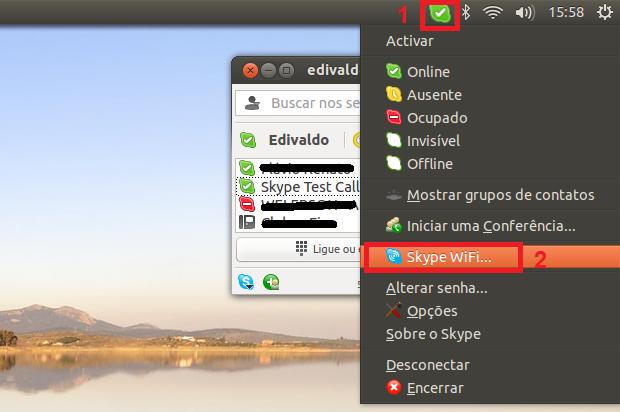 Acessando o Skype WiFi (Foto: Reprodução/Edivaldo Brito)
