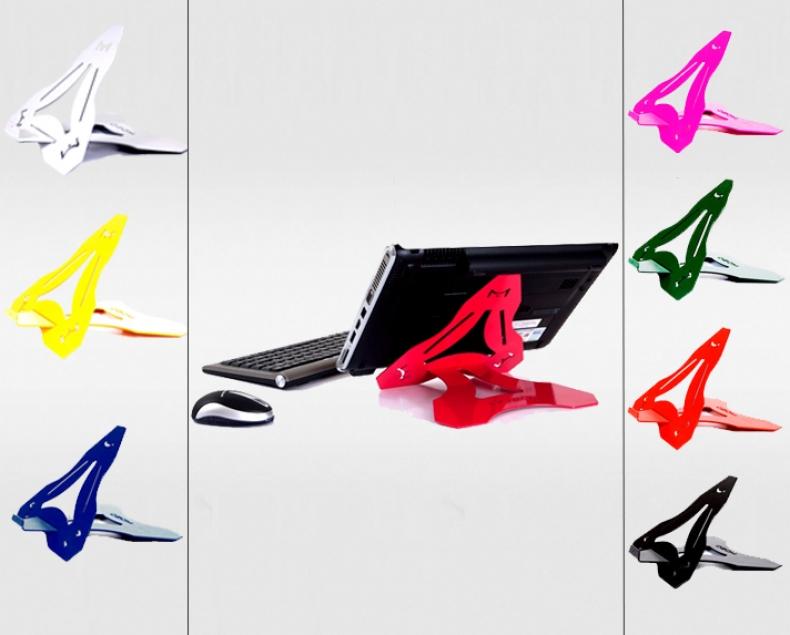 Pequeno e em diversas cores, o Air Stand é um suporte para laptops bem útil (Foto: Divulgação/ Ozom)