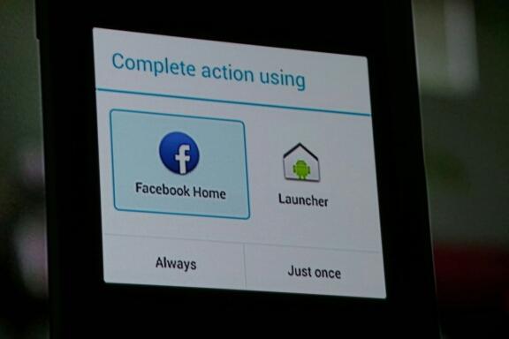 Opção de escolha aparecerá na tela do Android após instalar o Home (Foto: Reprodução/CNET)