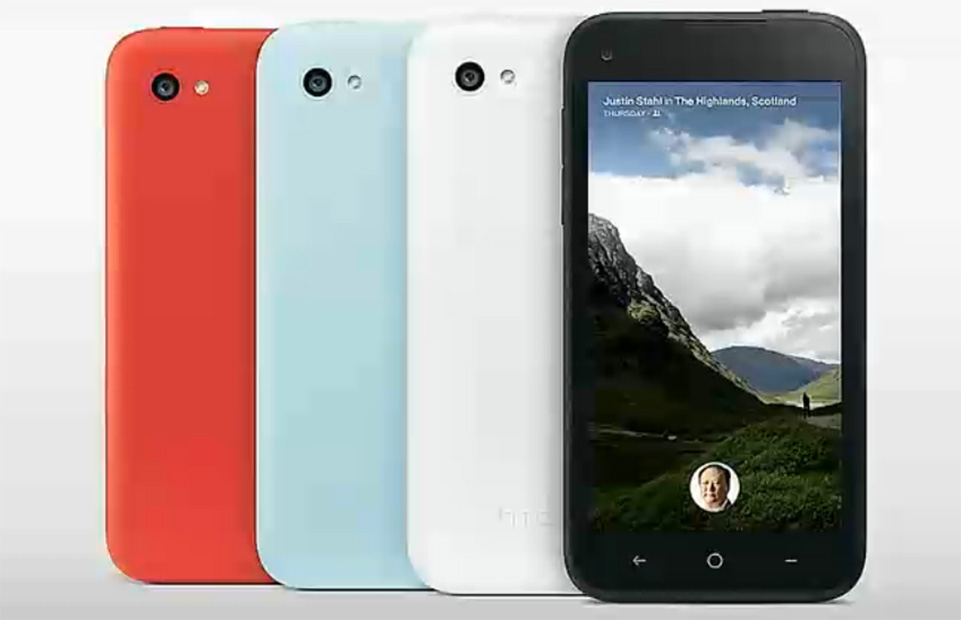 Opções de cores que o HTC First terá (Foto: Reprodução/Facebook)