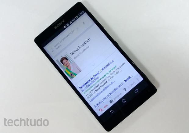 Google Search agora responde usuário em português (Foto: Elson de Souza/Techtudo)