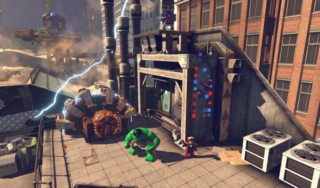 Homem de Ferro e Hulk exploram Nova York em Lego Marvel (Foto: Divulgação)