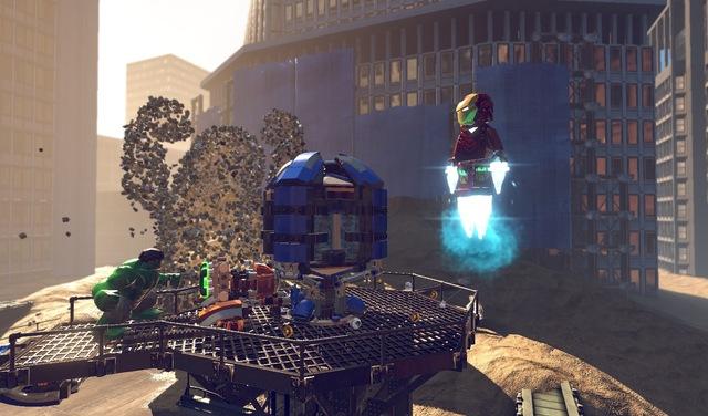 Hulk e Homem de Ferro enfrentam um gigantesco Homem de Areia (Foto: Divulgação)