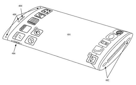 Projeto do próximo iPhone: imagens vazaram de processo de aprovação de patente (Foto: Reprodução/GSMarena)