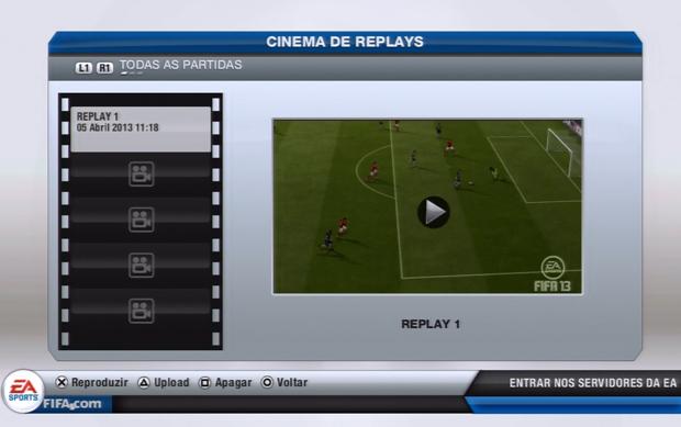 Escolha o replay desejado (Foto: Reprodução)
