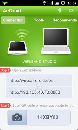 Tela de Compartilhamento AirDroid (Foto: Reprodução / Google Play) (Foto: Tela de Compartilhamento AirDroid (Foto: Reprodução / Google Play))