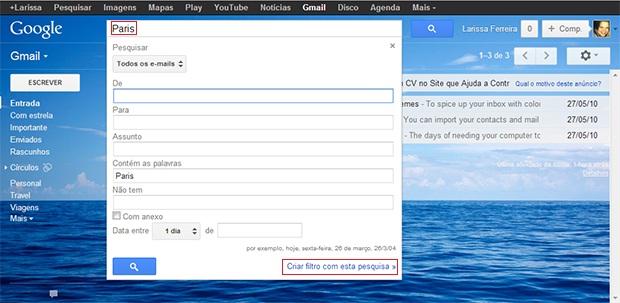Criando filtros de pesquisas (Foto: Reprodução)