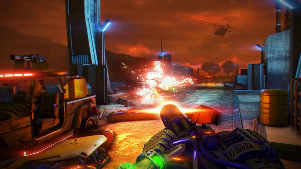 Far Cry 3: Blood Dragon é uma colorida e frenética homenagem aos anos 80 (Foto: Divulgação)