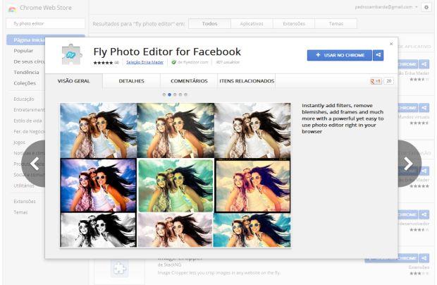 Fly Photo Editor é o programa feito para alterar suas imagens no Facebook (Foto: Reprodução/Pedro Zambarda/TechTudo)