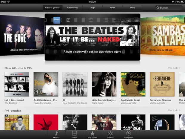Esta é a página principal do iTunes (Foto: Thiago Barros/TechTudo) (Foto: Esta é a página principal do iTunes (Foto: Thiago Barros/TechTudo))
