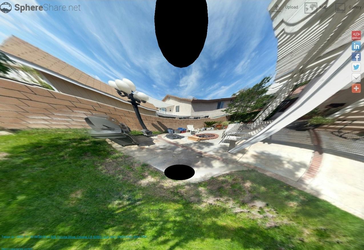 A visualização das imagens é feita de forma interativa e controlada pelo mouse (Foto: Divulgação/ SphereShare )