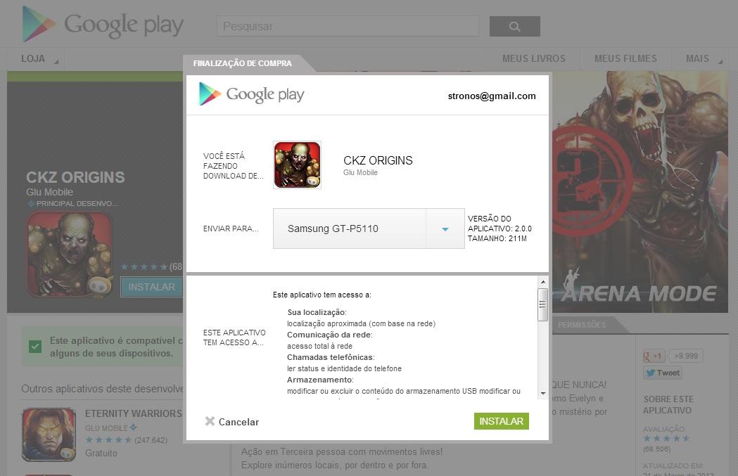 Fique atento em quais funções o app irá utilizar em seu aparelho (Foto: Divulgação/ Google Play)