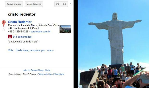 Street View ainda não tem panorâmica do Cristo (Foto: Reprodução/Thiago Barros)