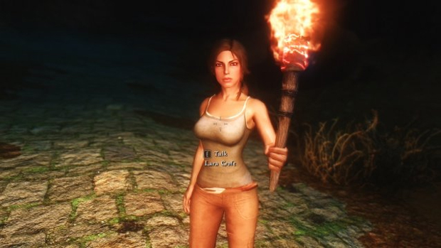 Lara Croft pode ser sua companheira com este mod de Skyrim (Foto: Gameranx)