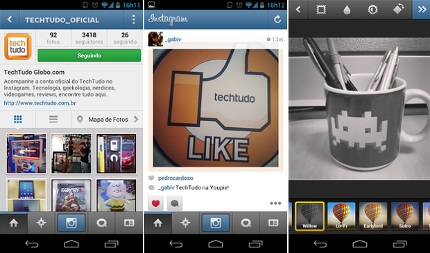 Instagram está cada vez mais popular (Foto: TechTudo)