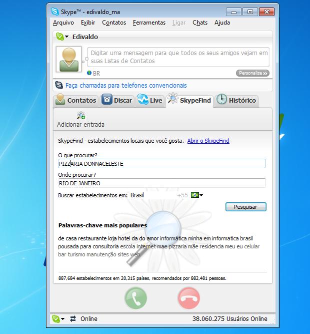 Comprar créditos no Skype é fundamental para realizar ligações (Foto: Reprodução/Edivaldo Brito)