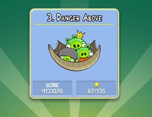 Danger Above - Angry Birds (Foto: Reprodução)