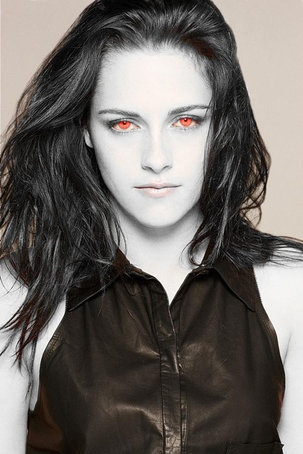 Foto de Kristen Stewart com efeito vampiro feito no Photoscape (Foto: Reprodução/ Raquel Freire)