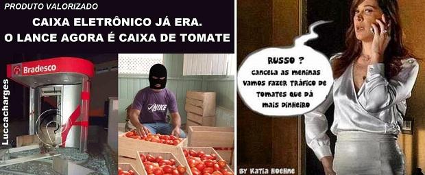 Piadas com o tomate viraram hit na web (Foto: Reprodução/Facebook)