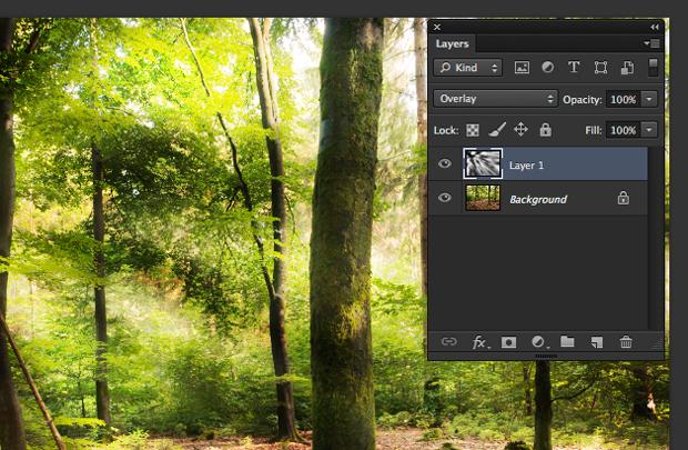 Paleta de camadas do Photoshop com destaque para as camadas do filtro mescladas (Foto: Reprodução/André Sugai)