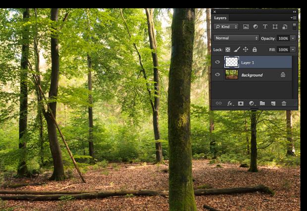 Paleta de camadas do Photoshop com nova camada em destaque (Foto: Reprodução/André Sugai)