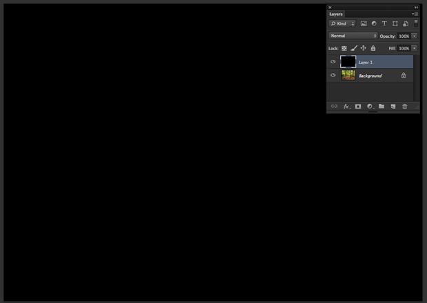 Imagem preenchida com preto usando a ferramenta do Photoshop Balde de Tinta (Foto: Reprodução/André Sugai)