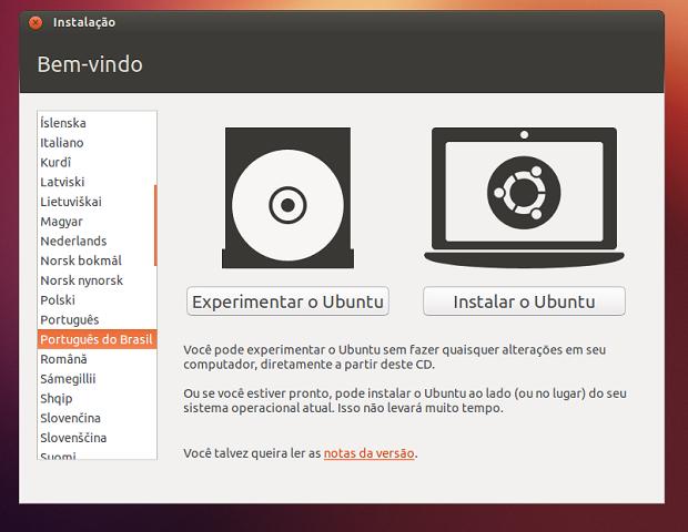 Configurando e iniciando o Ubuntu  (Foto: Reprodução/Edivaldo Brito)