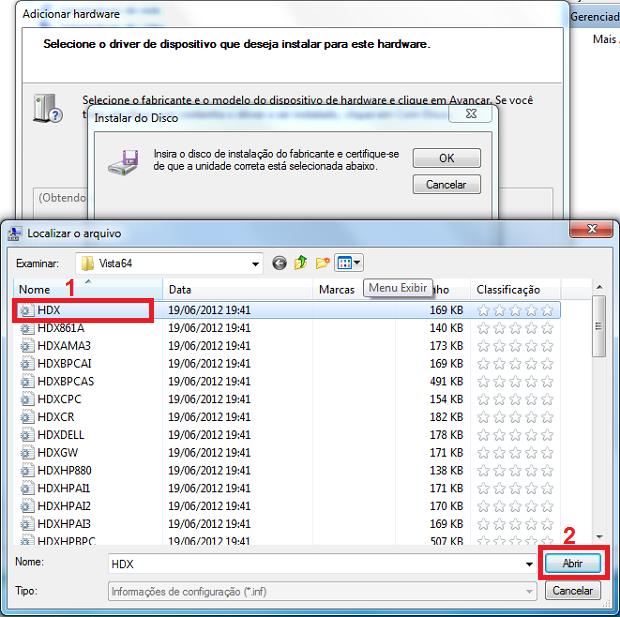Informando onde está arquivo de instalação do driver (Foto: Reprodução/Edivaldo Brito)