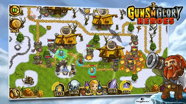 Guns'n'Glory Heroes mistura desenho animado e estratégia de forma divertida (Foto: Divulgação)