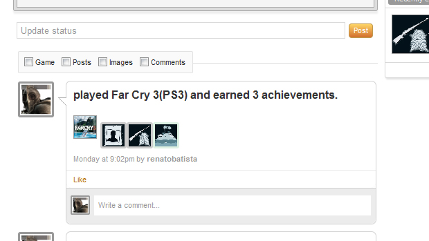 Troféus e conquistas são sincronizados de forma imediata em seu perfil. (Foto: Reprodução)
