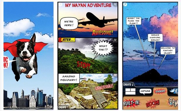 ComicBook trasnforma fotos em histórias em quadrinhos (Foto: Divlugação)