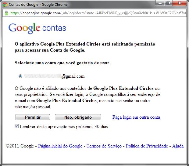 Autorizando o acesso do aplicativo à Conta Google (Foto: Reprodução/Ricardo Fraga)