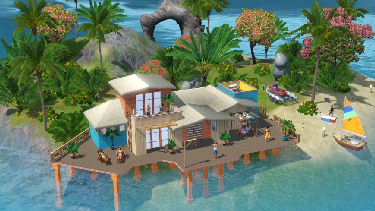Island Paradise leva The Sims 3 para férias na praia (Foto: Divulgação)