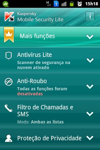 (Foto: Divulgação/ Kaspersky Mobile Security Lite)