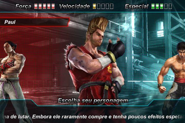 Paul é um dos personagens mais fortes de Tekken (Reprodução/Pedro Zambarda/Namco)