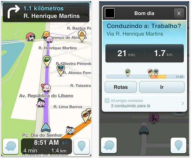 Informações de GPS e redes sociais são as fontes do Waze (Foto: Divulgação)