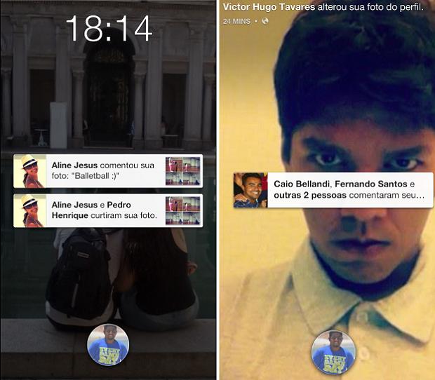 Facebook Home exibe notifações em destaque na tela inicial do Android (Foto: Thiago Barros/TechTudo)