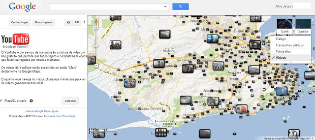 No Maps é possível visualizar vídeos do YouTube (Foto: Aline Jesus/Reprodução)
